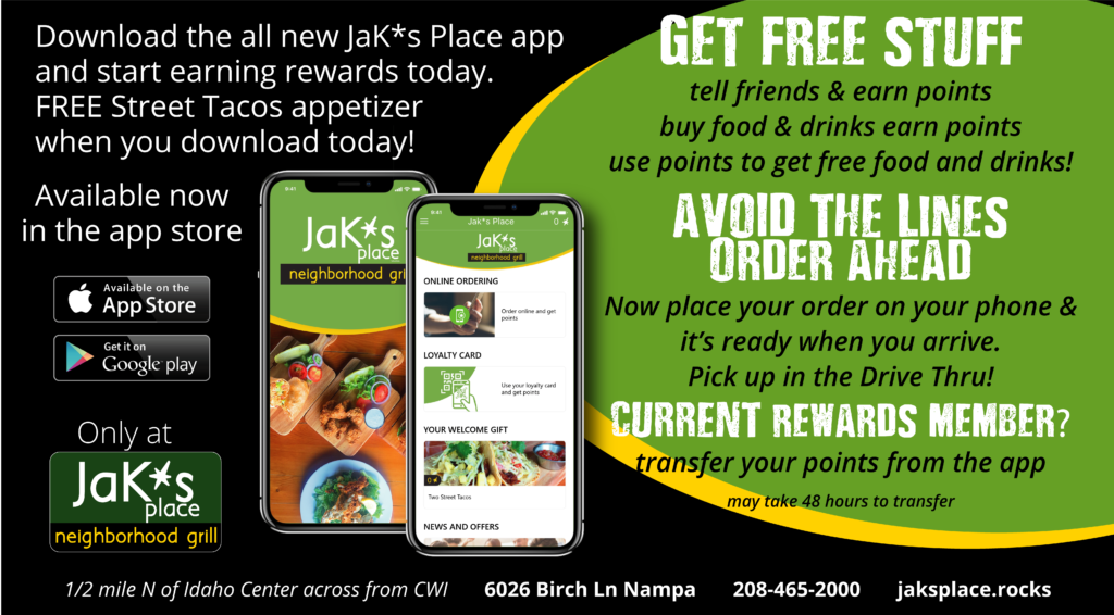 Free Appetizer with Download - Jak*s Place